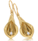 ER330 Calla Lily Earrings with Dias Set in 14K Yellow Gold